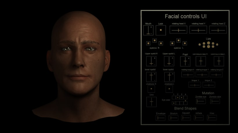 Rig Facial Maya 2016 + UI + mutation | Domestika