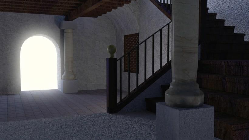 Portal  Diseño Maya  Render Mental Ray    Domestika