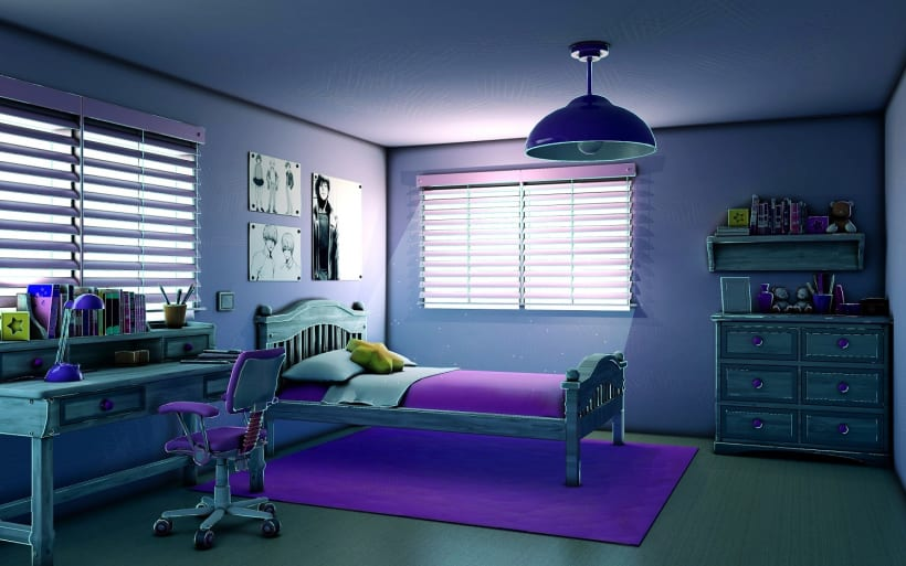 3d Bedroom Background Domestika