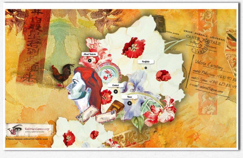 Webdesign for the Artist Valeria Cavestany, painter