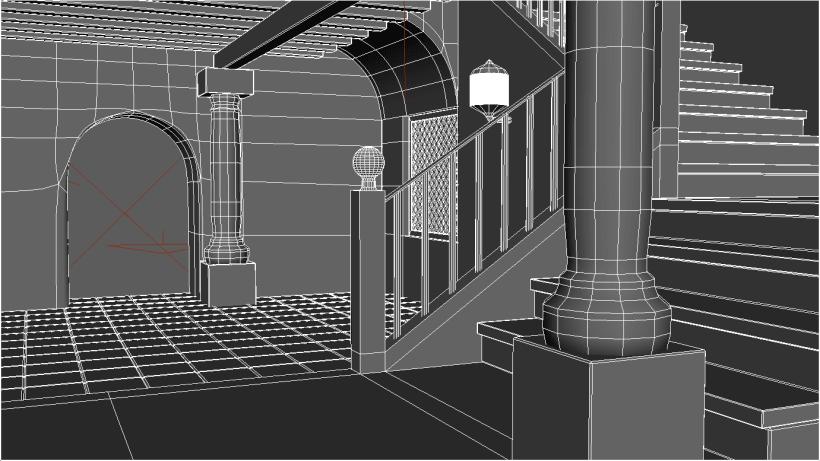 Portal  Diseño Maya  Render Mental Ray  | Domestika