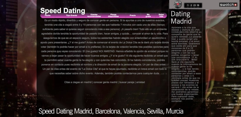 speed dating madrid gratis