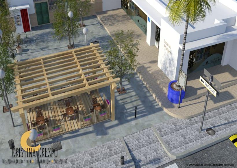 Propuesta Diseño Terraza Exterior Decoure Sitges