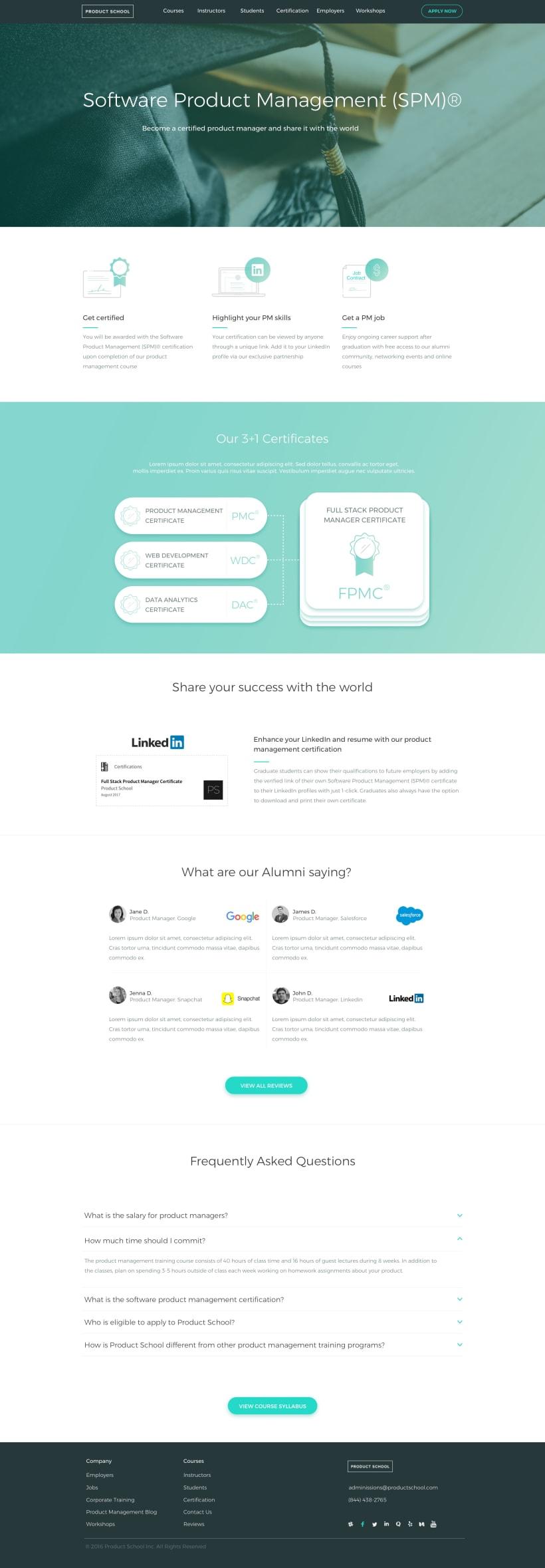 Product School   Responsive Web Design   Domestika