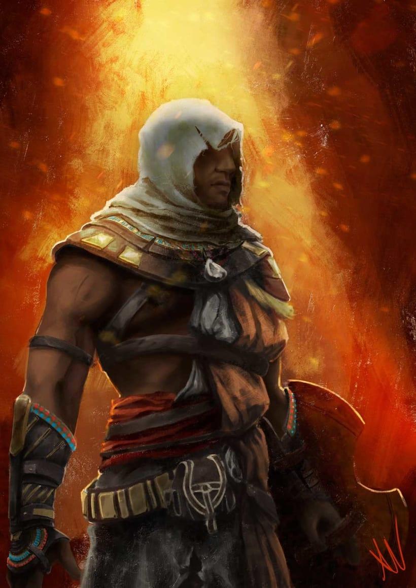 Bayek De Siwa Assassin S Creed Origins Domestika