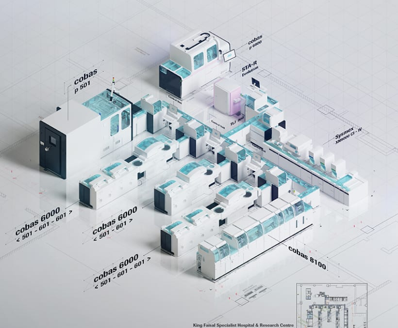 Roche Days: Total Lab Automation in 3D | Domestika