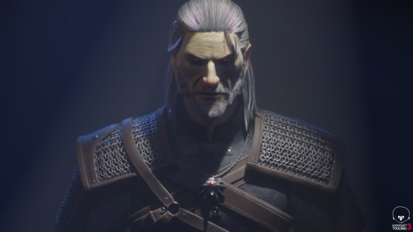 Geralt of Rivia  Zbrush, Substance Painter y Marmoset Toolbag