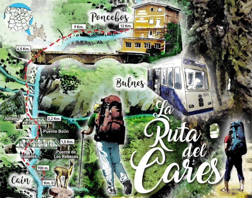 Ruta Del Cares Mapa.Mapa Ruta De Cares Domestika