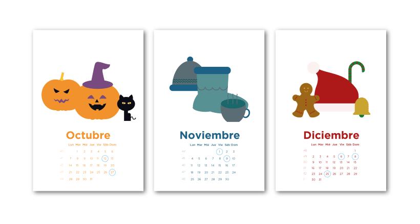 Calendario Laura.Calendario Ilustrado 2019 Domestika