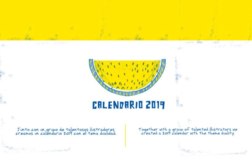 Calendario 2019 Illustrator.Calendario 2019 Domestika