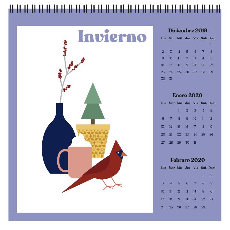 Calendario 2019 2020.Calendario 2019 2020 Domestika