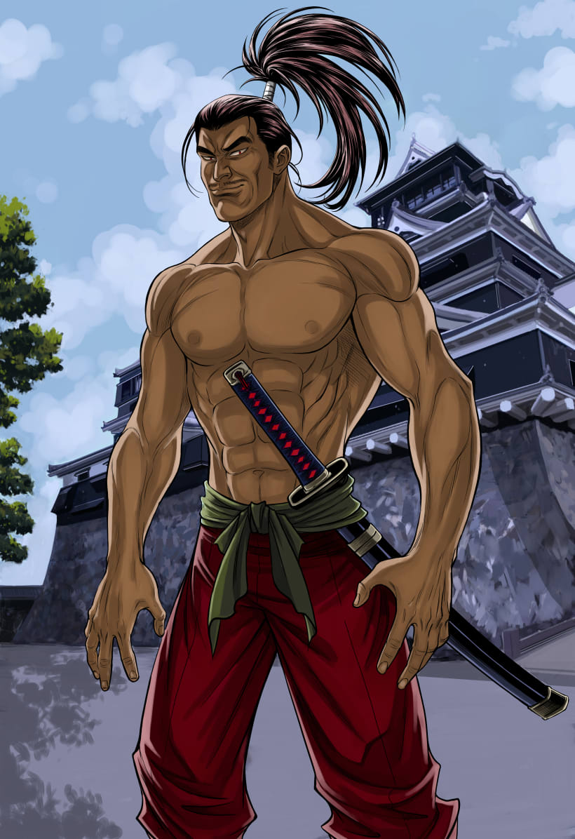 Samurai Ilustracion Anime Maga Comic Domestika