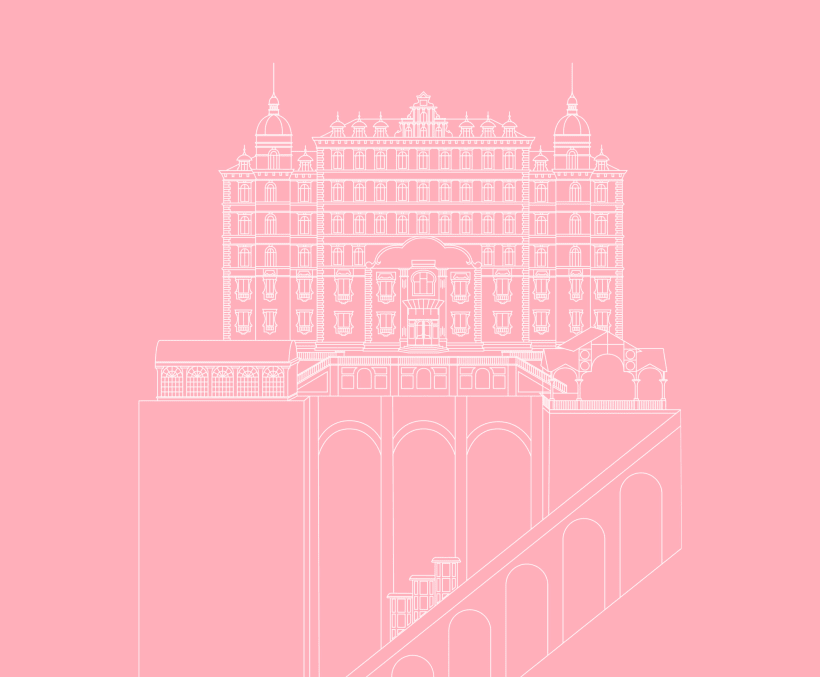 The Grand Budapest Hotel Wes Anderson Poster Domestika
