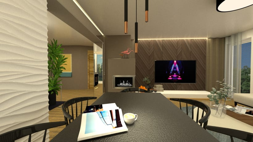 Last Project Open Space Kitchen And Living Room In About Thiny 36m2 Domestika