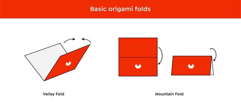 Origami Blintz Fold | 377x820