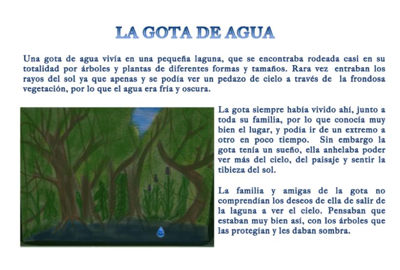 Cuento Infantil La Gota De Agua Domestika