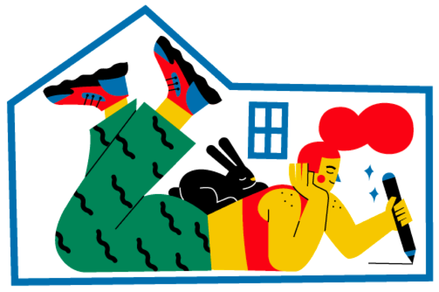 "© Imagem de capa: camipepe, ""Stay home / Stay safe"", 2020."